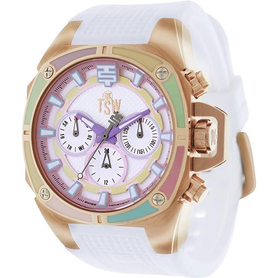 Techno Sport Chrono Reloj para mujer - oro rosa/blanco: Amazon.es: Relojes