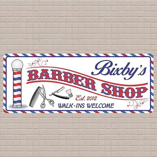 Evan332Eddie - Cartel de barbería con Barra de barbería y ...