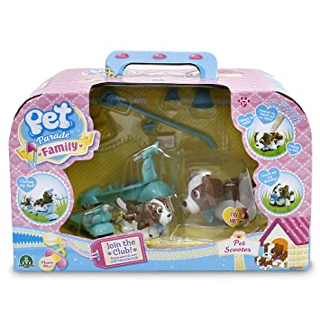 pet parade family electronic toy dog and puppy scooter playset