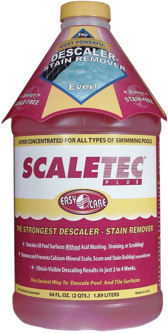 EasyCare 20064 Scaletec Plus Descaler and Stain Remover, 64 oz. Bottle : Swimming Pool Algaecides : Garden & Outdoor