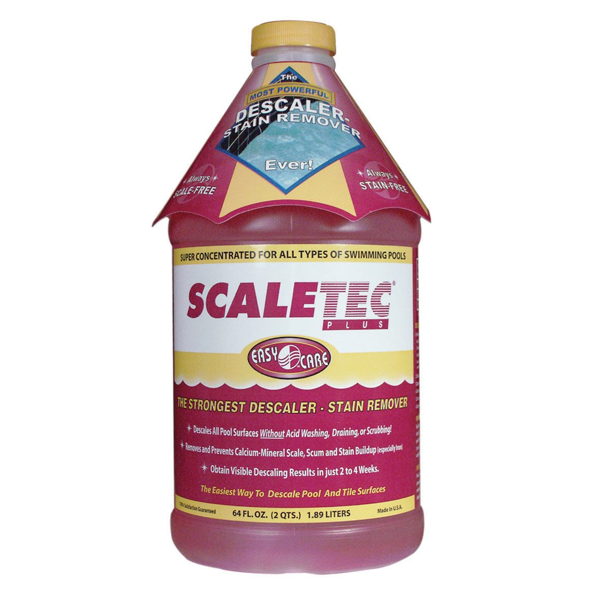 EasyCare 20064  Scaletec Plus Descaler and Stain Remover, 64 oz. Bottle by EasyCare