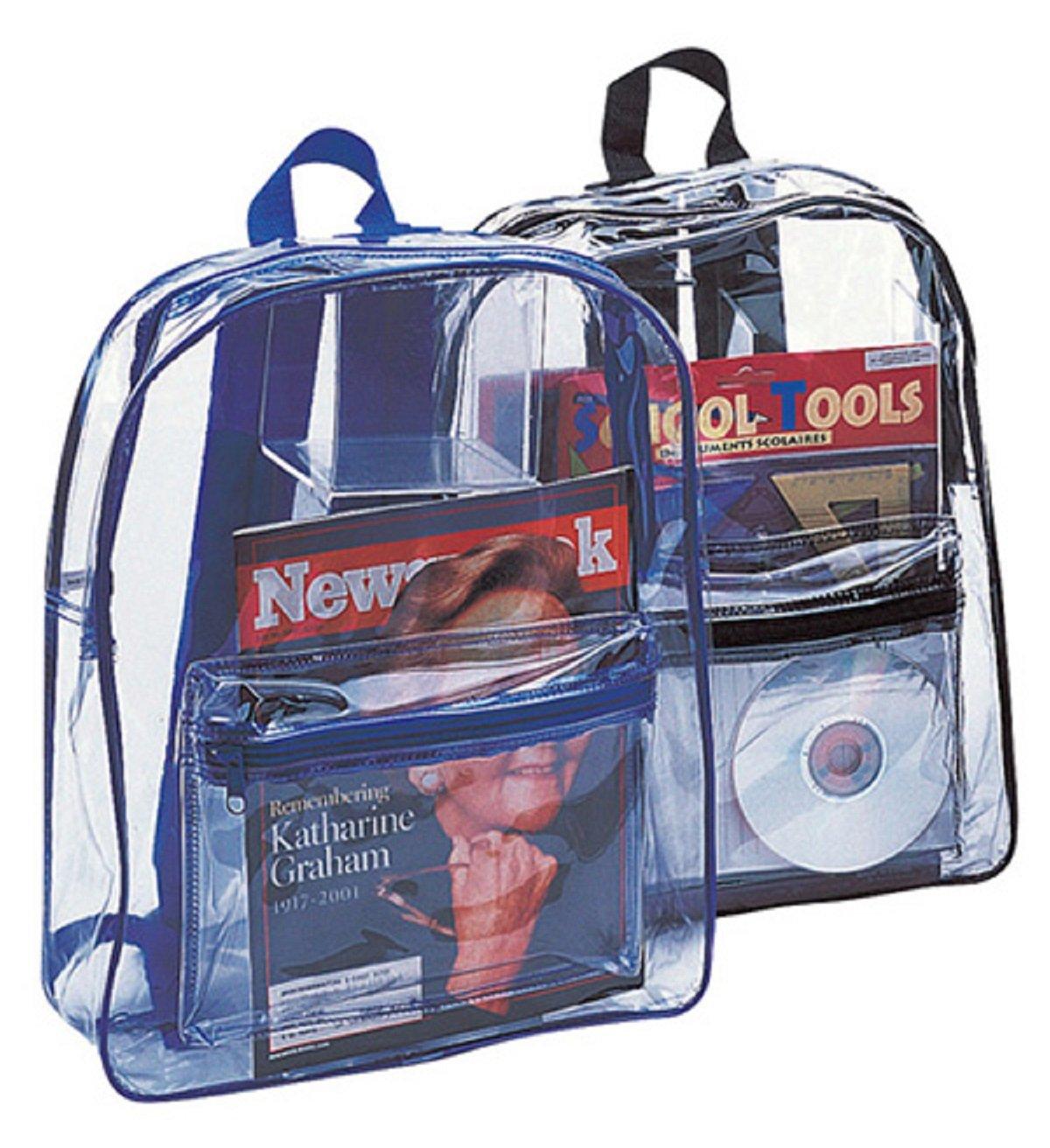 Clear PVCバックパック,ケースof 50 B013RHCTOC クリア/ブラック