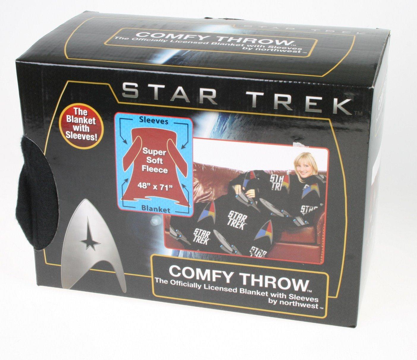 Northwest Star Trek Comfy Throw Blanket with Sleeves