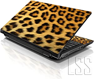 "LSS Laptop 17-17.3"" Skin Cover with Colorful Leopard Print Pattern for HP Dell Lenovo Apple Asus Acer Compaq - Fits 16.5"" 17"" 17.3"" 18.4"" 19"" (2 Wrist Pads Free)"