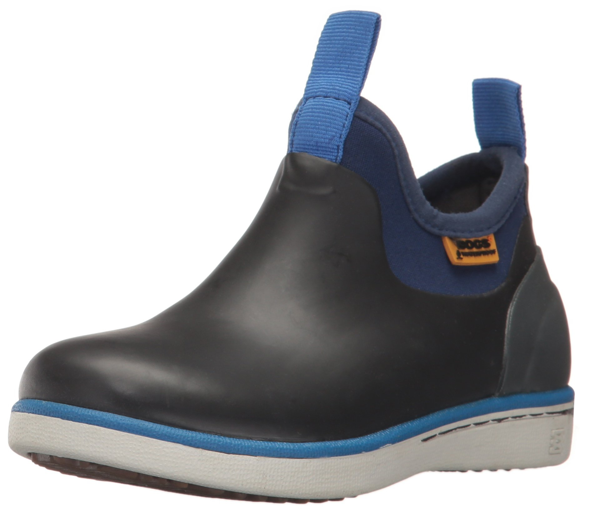 Bogs Riley Kids Slip-On Waterproof Low Top Rain Boot for Boys and Girls, Black/Multi, 9 M US Toddler