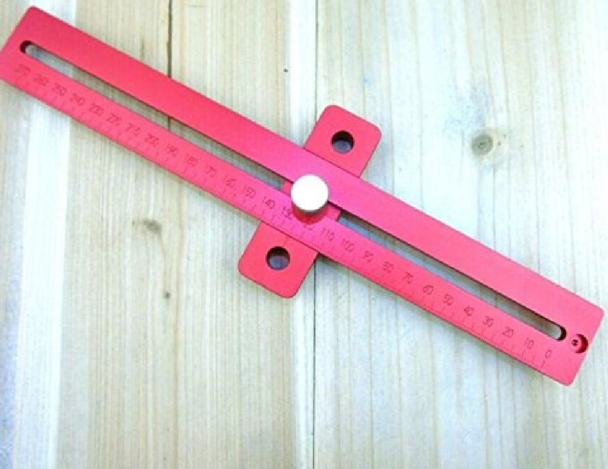 Aluminum Alloy Crossed Ruler Woodworking T Type Scriber Measuring Tools by YUCHENGTECH (Image #3)