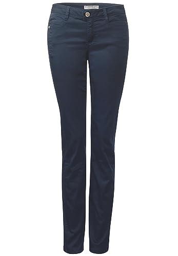 Street One – Pantalón – Básico – para mujer azul noche (night blue) 40W x 32L