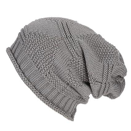 Koly Crochet mujeres invierno gorro lana Tejer Beanie casquillos calientes  6 colores Hombres Mujer Holgado Calentar 7c0c01b4caf