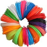3D Pen Filament Refills - 20pc Different Colors 1.75mm (PLA Material) 21 Feet Per Colour, 6 Glow In The Dark Colors, includ in the Colored Paper Film