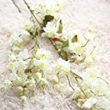 Dragon868 Künstliche Gefälschte Kirschblüte Seidenblume Braut Hortensien Hausgarten Decor (A, Künstliche Blume)
