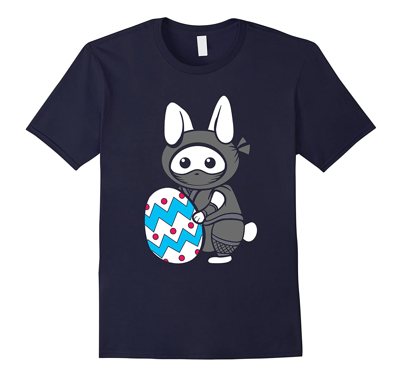 Easter Sunday Bunny Ninja Egg Hunt Hiding T Shirt-TD