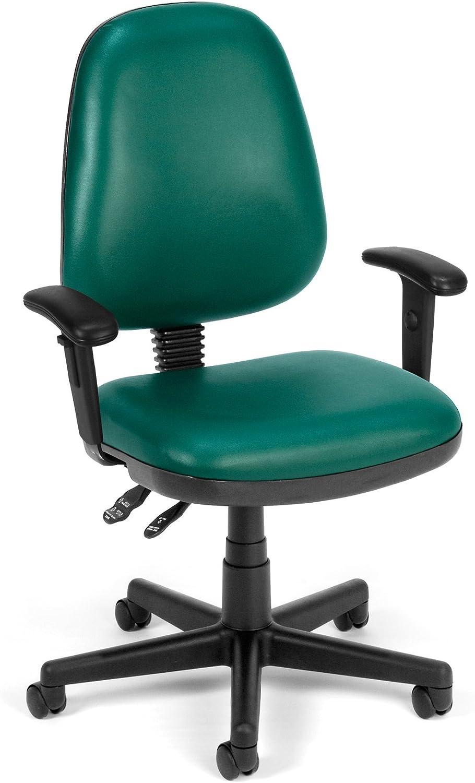 OFM Straton Series Vinyl Task Chair, Teal