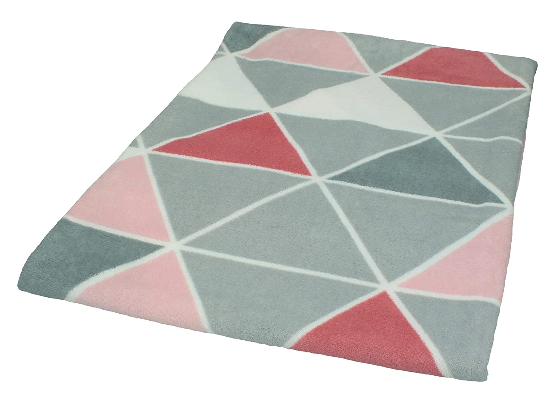 Betz Manta Suave Lituania tama/ño 140x190 cm Color Rojo Gris