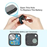 Bluetooth Key Finder,Mini Smart Tracker Device with App for Lost Keys Wallets Luggage Bags,Compatible with iOS Android,Replaceable Battery