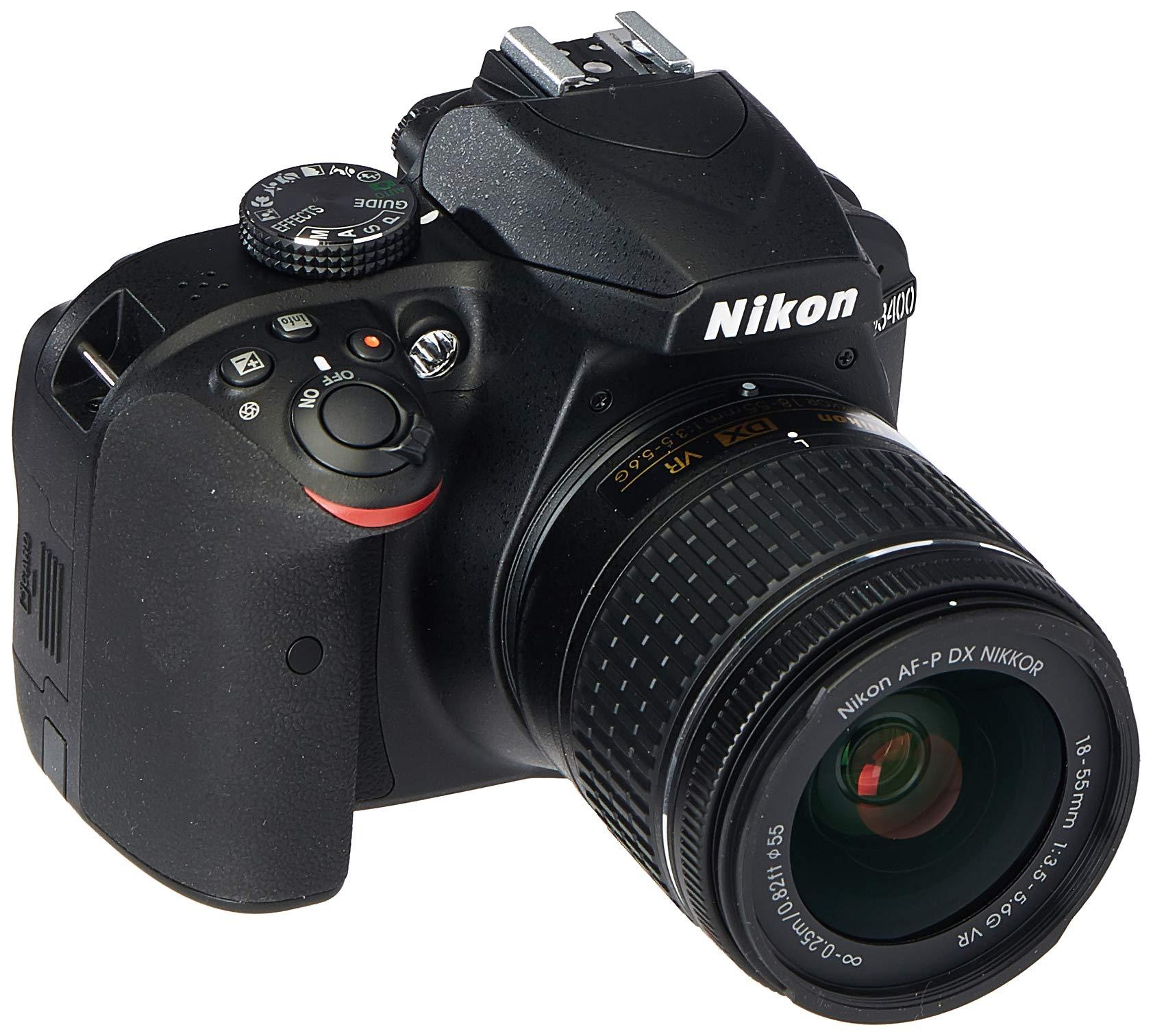 Nikon D3400 Digital SLR Camera & 18-55mm VR DX AF-P Zoom