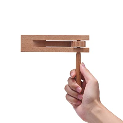Wooden Spinning Ratchet Noise Maker Grogger, Traditional Matraca for Parties, Sports Events and Celebrations: Musical Instruments