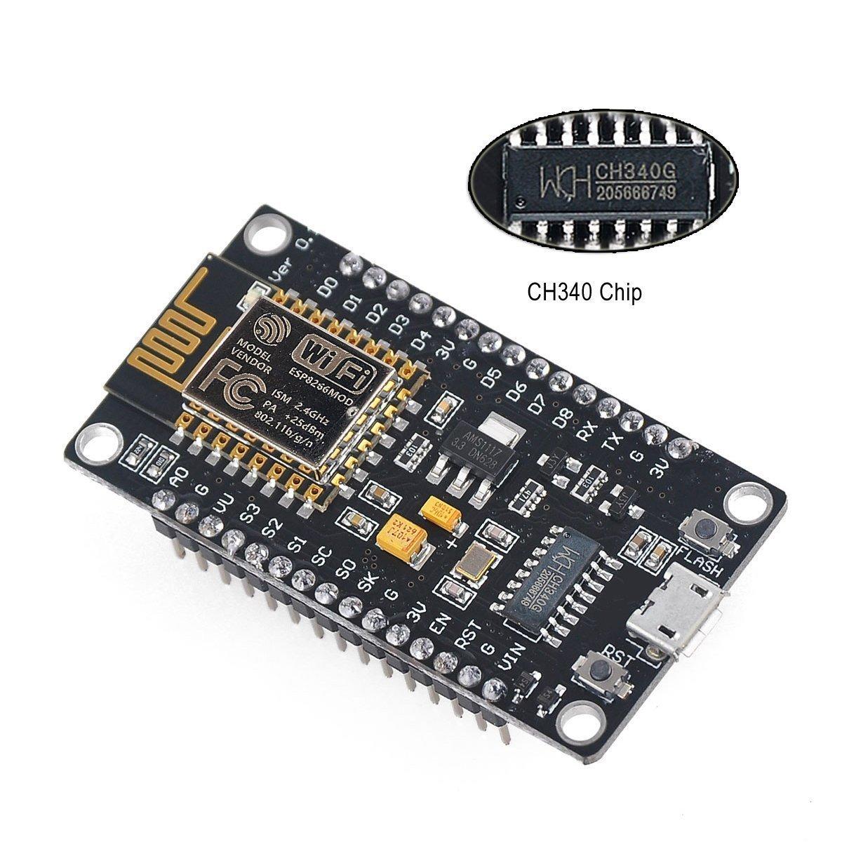 MakerFocus 2pcs ESP8266 NodeMcu Serial Wireless Arduino Wifi Module CH340 NodeMcu Arduino V3 Lua WIFI IOT Development New Version Esp8266 Development Board For Arduino Project by MakerFocus (Image #3)