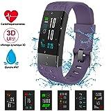 NickSea Montre Connectée Couleur, Bracelet Connecté IP67 Etanche avec Ecran Couleur Tactile avec Cardiofréquencemètres,