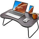 LORYERGO Lap Desk for Laptop - Lap Desk w/Cup Holder, Laptop Lap Desk with Slot for Phone & Tablet, Lap Table for Bed, Suitab