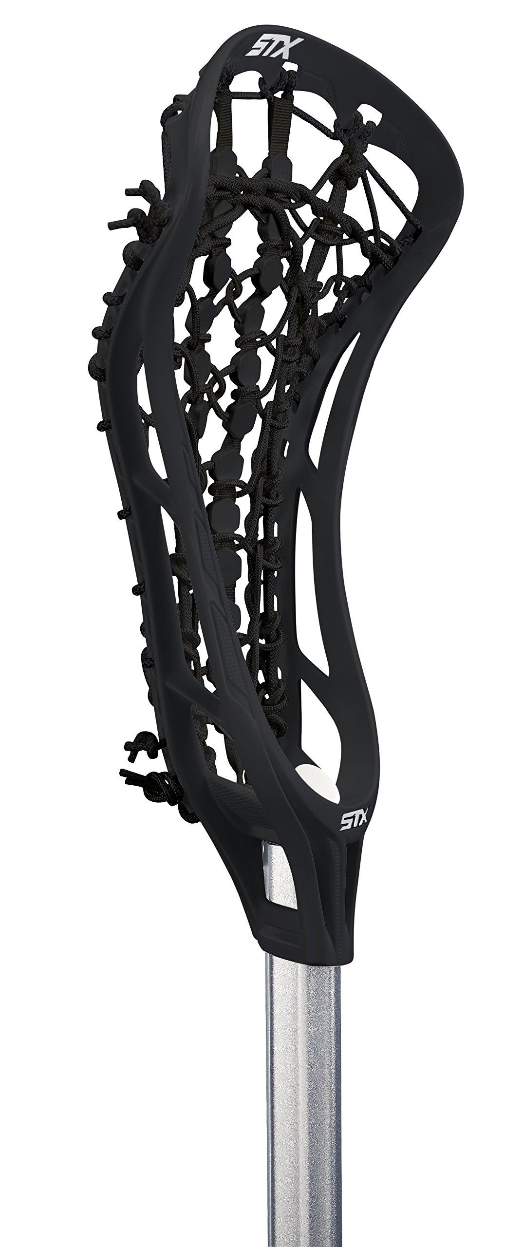 STX Lacrosse Women's EXULT 300 Complete Stick Black Head and Runway Pocket on 7075 Handle