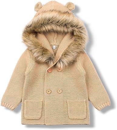 Boy Coats Long Sleeve Hooded Jackets mimixiong Baby Sweater Cardigan