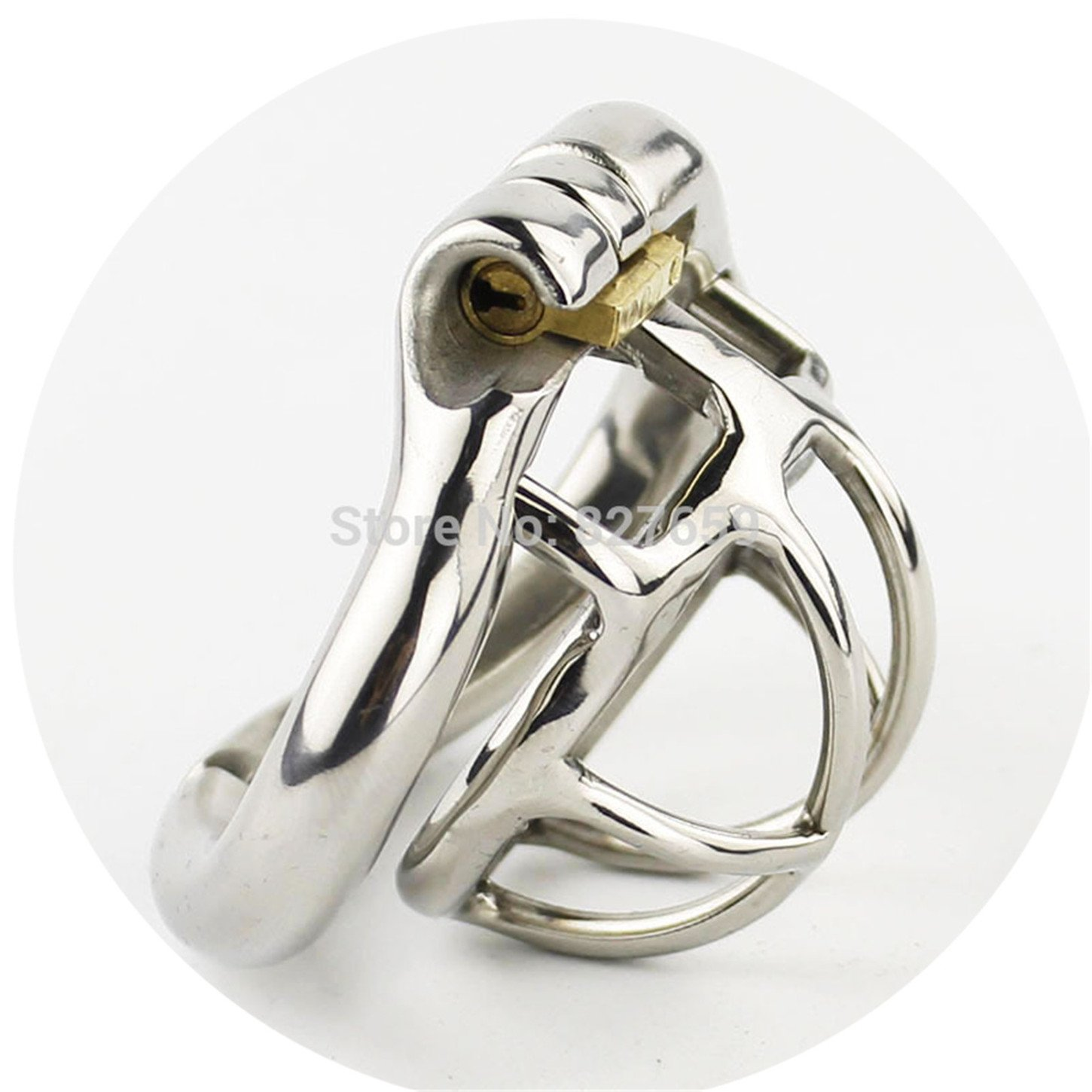 New Super Small Male Chastity Device Stainless Steel Chastity Cage with with arc-Shaped Cock Ring Sex