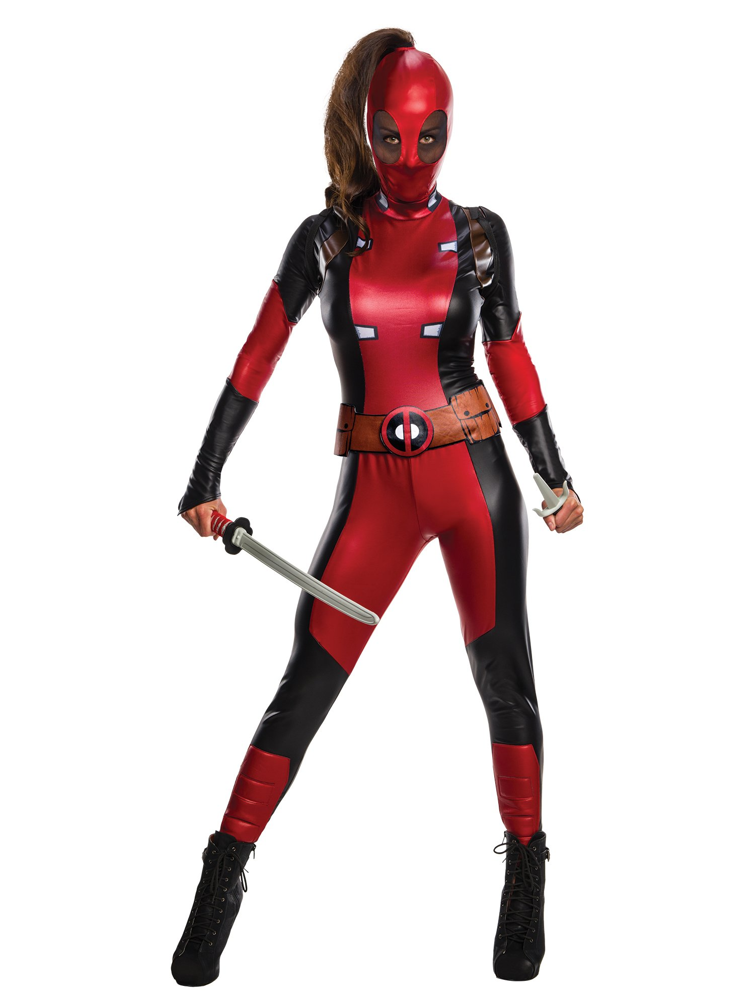 Marvel Women's Deadpool Costume, Multi, Medium