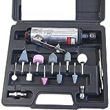 212505B 15Pcs Gerade Mini Air Die Grinder Kit Schleifen Polieren Werkzeug W / Acc.