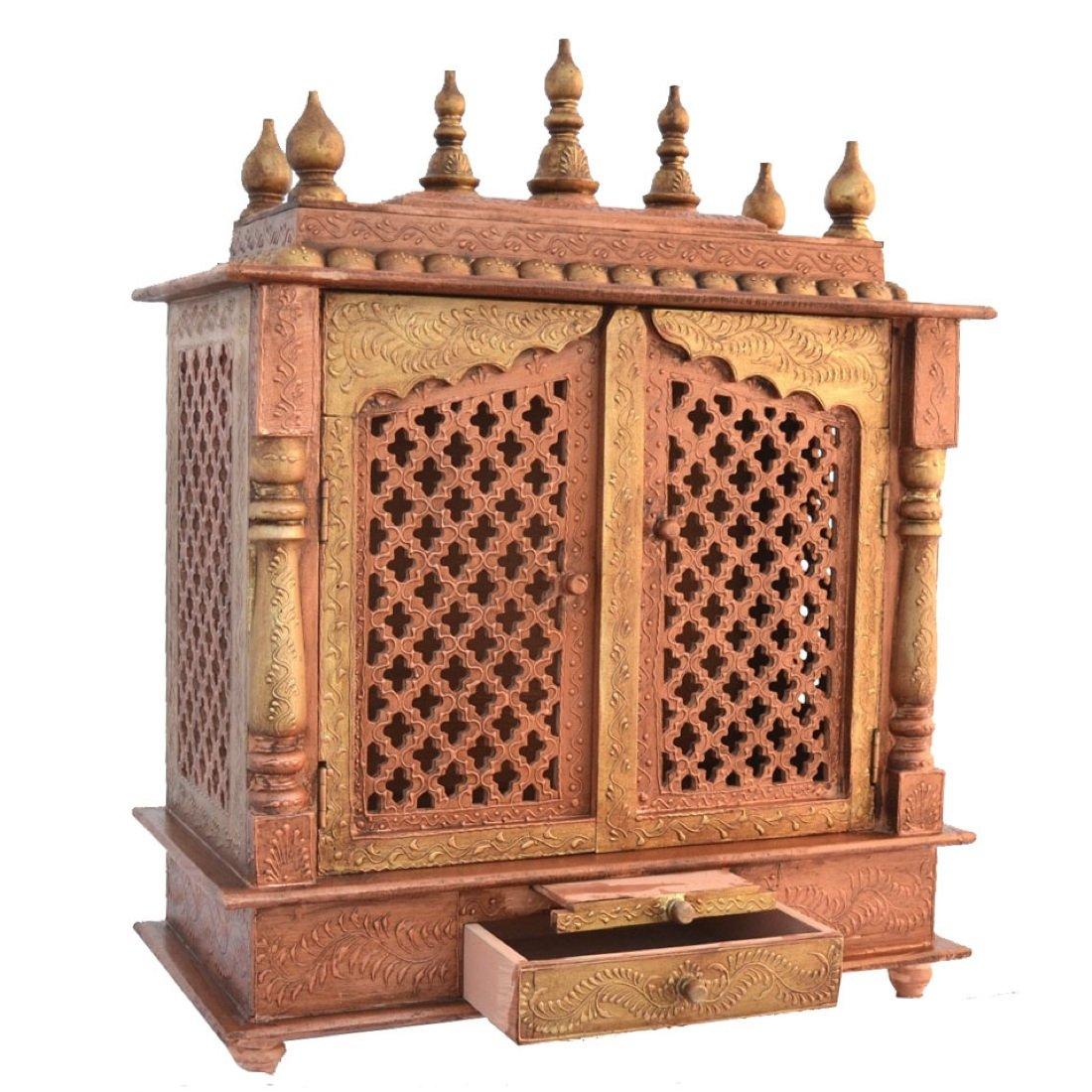 amazon com wooden temple home temple pooja mandir pooja mandap