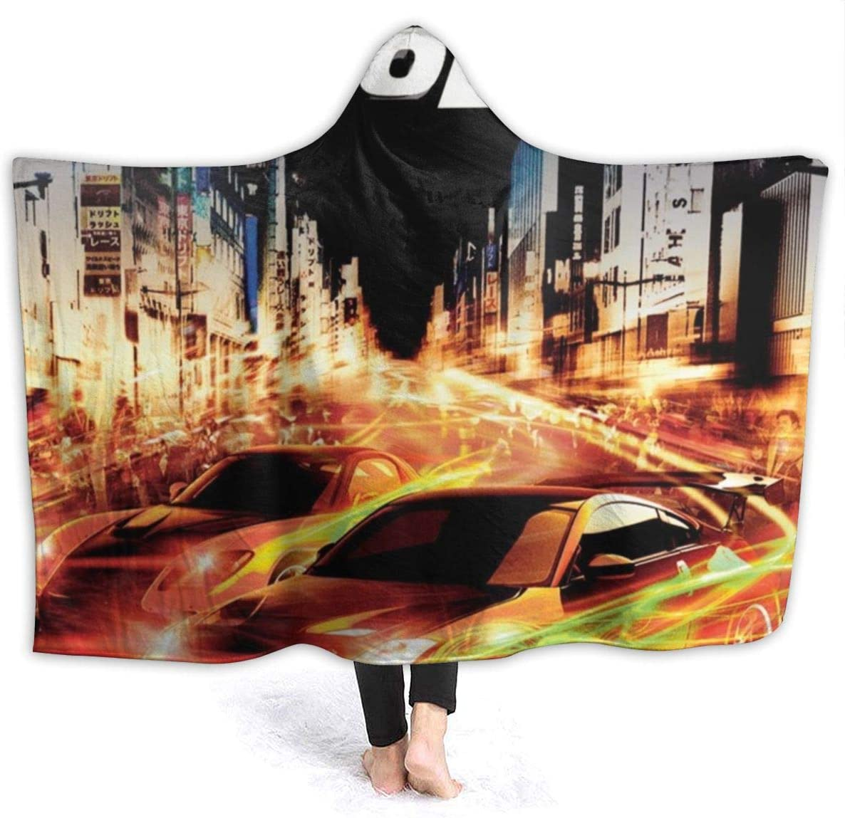 MCFUNTEE The Fast and The Furious-Tokyo Drift Ultra-Soft Micro Fleece Blanket for Bed Car Camp Couch Cozy Plush Throw Blankets for Adults Or Kids