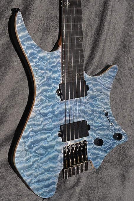 Guitarra sin cabeza, trastes ventilados, guitarra eléctrica, color ...