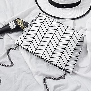 Aoligei 5 * 8 Matt Girl petit sac à bandoulière ondulés style japonais losange à géométrie variable sac