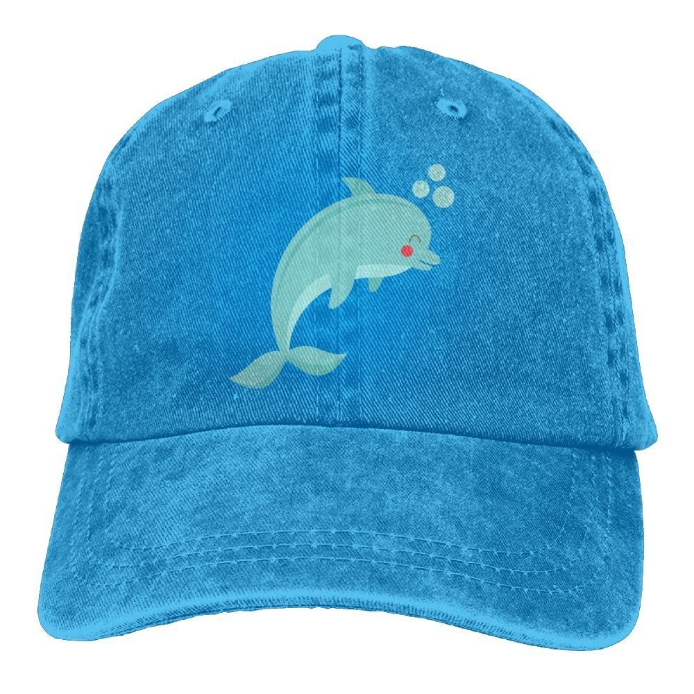f9741def710a5 Vintage Adult Sport Baseball Cap Purple Dolphin Adjustable Denim Cowboy Hat  For Men Women at Amazon Women s Clothing store