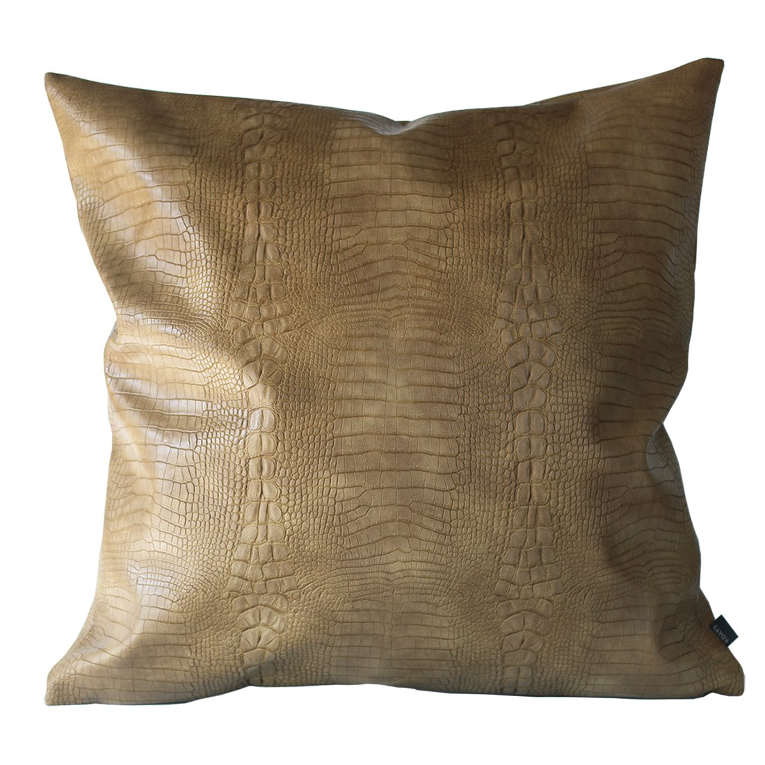 Buy Kdays Tan Beige Crocodile Skin Thick Soft Faux Leather Pillow Cover Decorative For Couch Throw Pillow Case Brown Leather Cushion Modern Minimalist Waterproof Pillow Cover 22x22 Inches Online At Low Prices