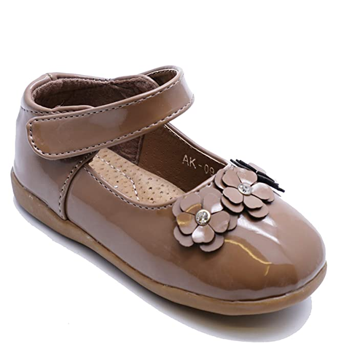 67aff98fc7 HeelzSoHigh Girls Kids Childrens Khaki Patent Infant Slip-On Cute Dolly  Shoes Pumps Sizes 4-8: Amazon.co.uk: Shoes & Bags
