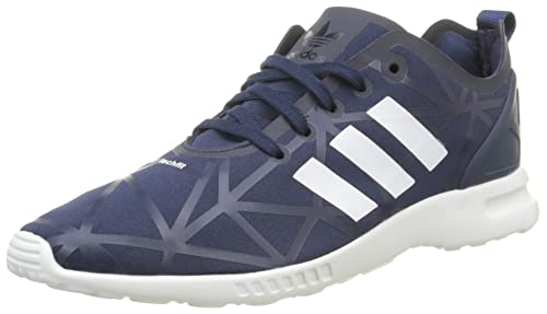 new style b6f76 1e85a adidas Women's Zx Flux Smooth Low-Top Sneakers Blue Size ...