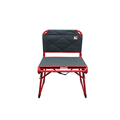 Outdoor Spectator Deluxe Fold&GO Wide Padded Stadium Seat for Bleachers Convertible Low Profile Camping Chair (225 lb. Capacity): Kitchen & Dining