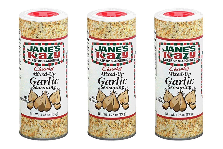Jane's Krazy Chunky Mixed-Up Garlic Seasoning, 135 grams, (3 Pack)