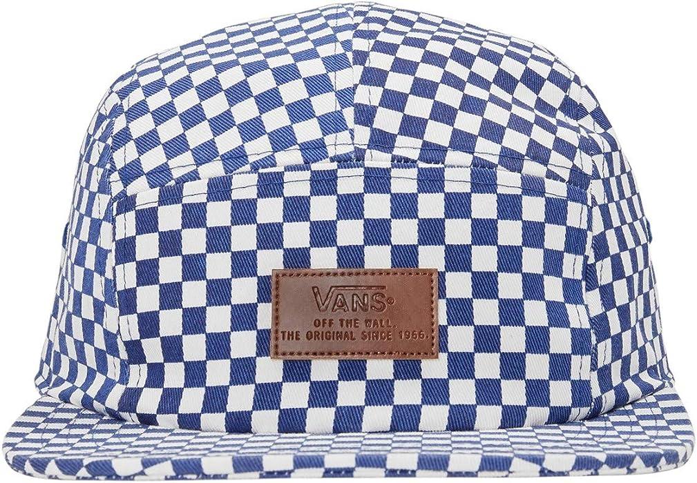 28adc7bd14e1e Off The Wall Men's Davis 5 Panel Camper Hat Cap, Blue/White Checkered, One  Size. Vans Off The Wall Men's Davis 5 Panel Camper Hat Cap ...