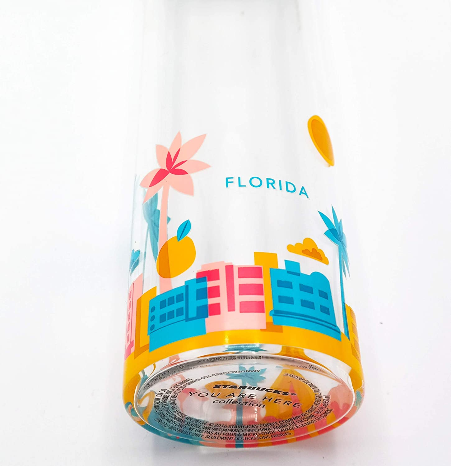 18.5 Fl Oz COMINHKPR105336 Florida Starbucks You Are Here Collection Water Bottle