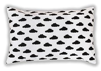 Amilian/® Dekokissen Kissenbezug Kissen 80cm x 80cm Wolken Wei/ß
