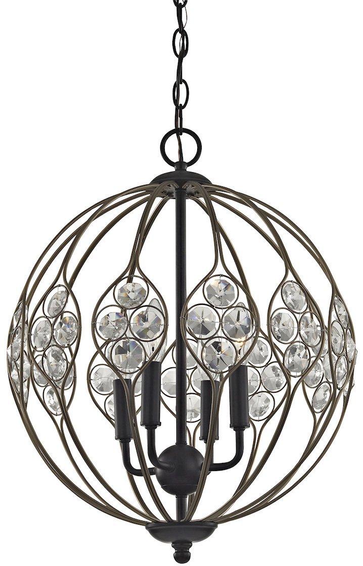 ELK Lighting 81107/4 Chandelier, One Size, Bronze