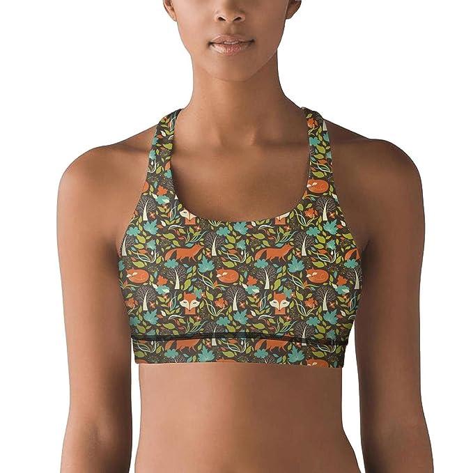 Amazon.com: Sujetador de yoga para mujer con diseño de ...