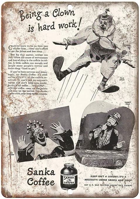 Sanka Coffee War Savings Bonds Placa Cartel Vintage Estaño ...