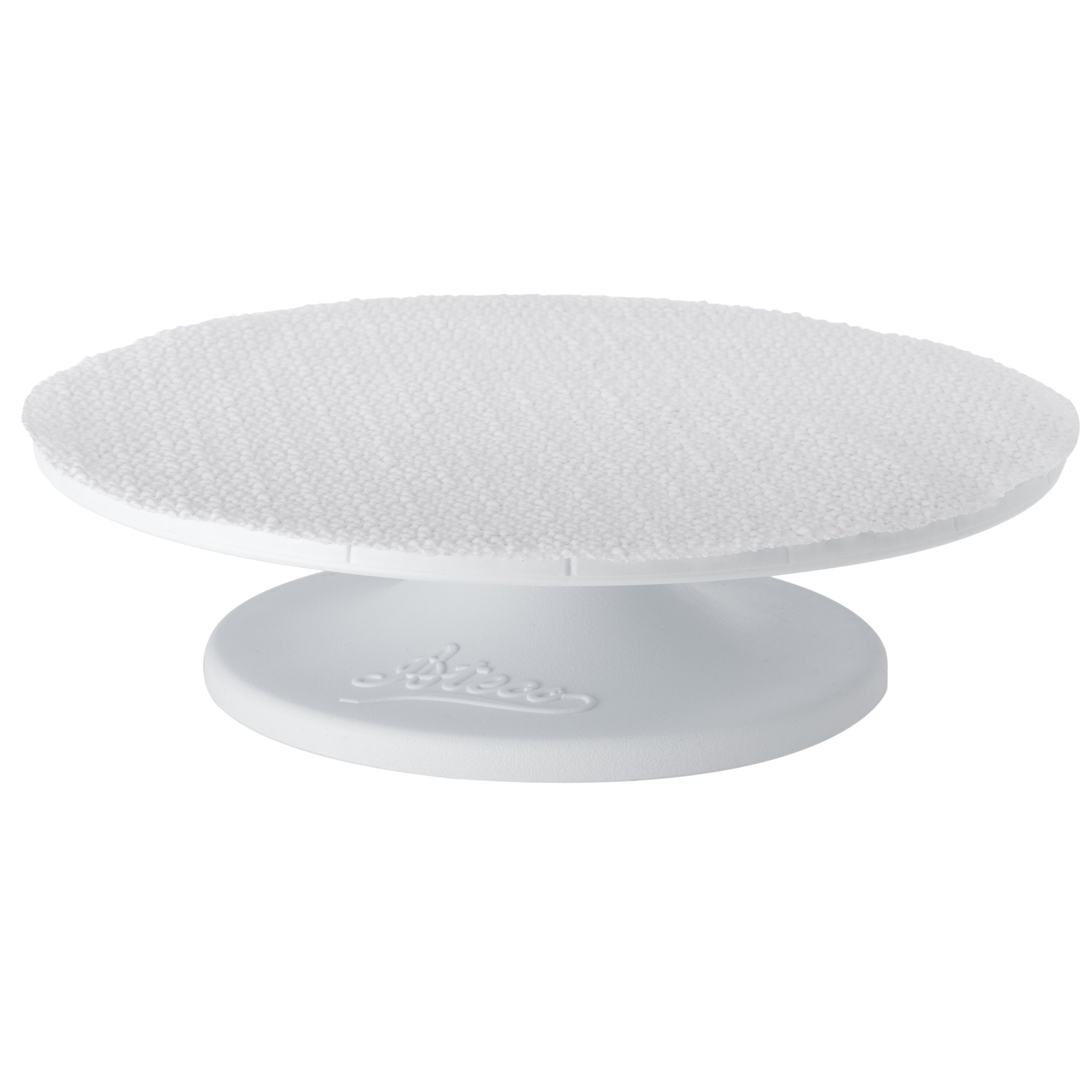 Ateco 610 Revolving Cake Decorating Stand with Non-Slip Pad, 12'' Round, Food-grade Plastic Base & Top