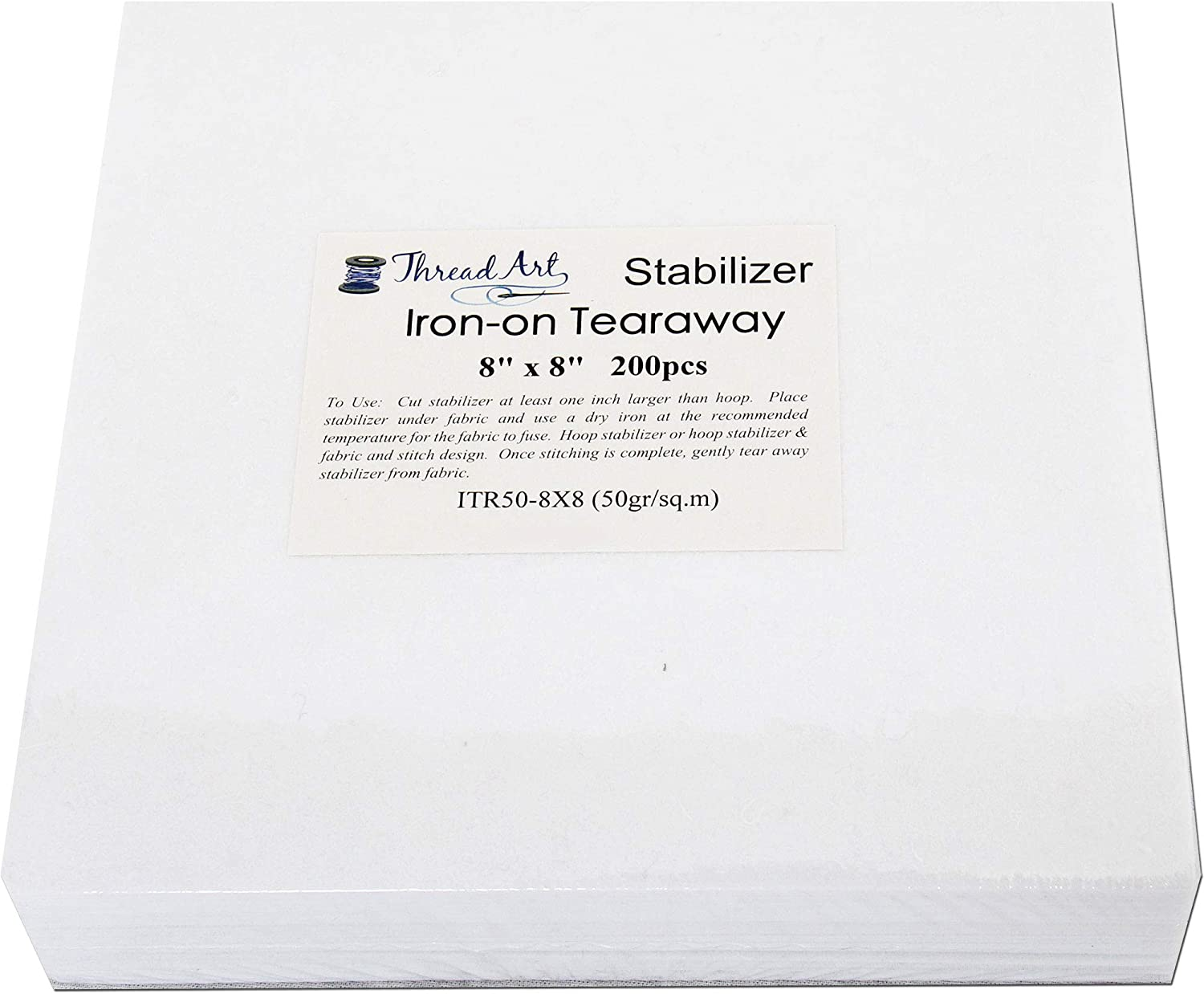Sticky in Rolls and Precut Sheets For Machine Embroidery 12 x 50 yd roll Threadart Tearaway Embroidery Stabilizer Washaway Also Available Over 20 Additional Styles of Cutaway 1.6 oz Medium Weight Tearaway