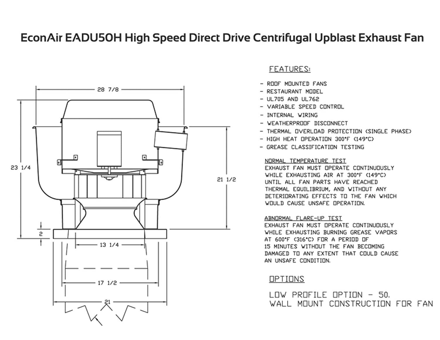 1400 Cfm Direct Drive Upblast Restaurant Exhaust Fan With 1375 Centrifugal Wiring Diagram Wheel Motor 5 Hp 115 V Single Phase