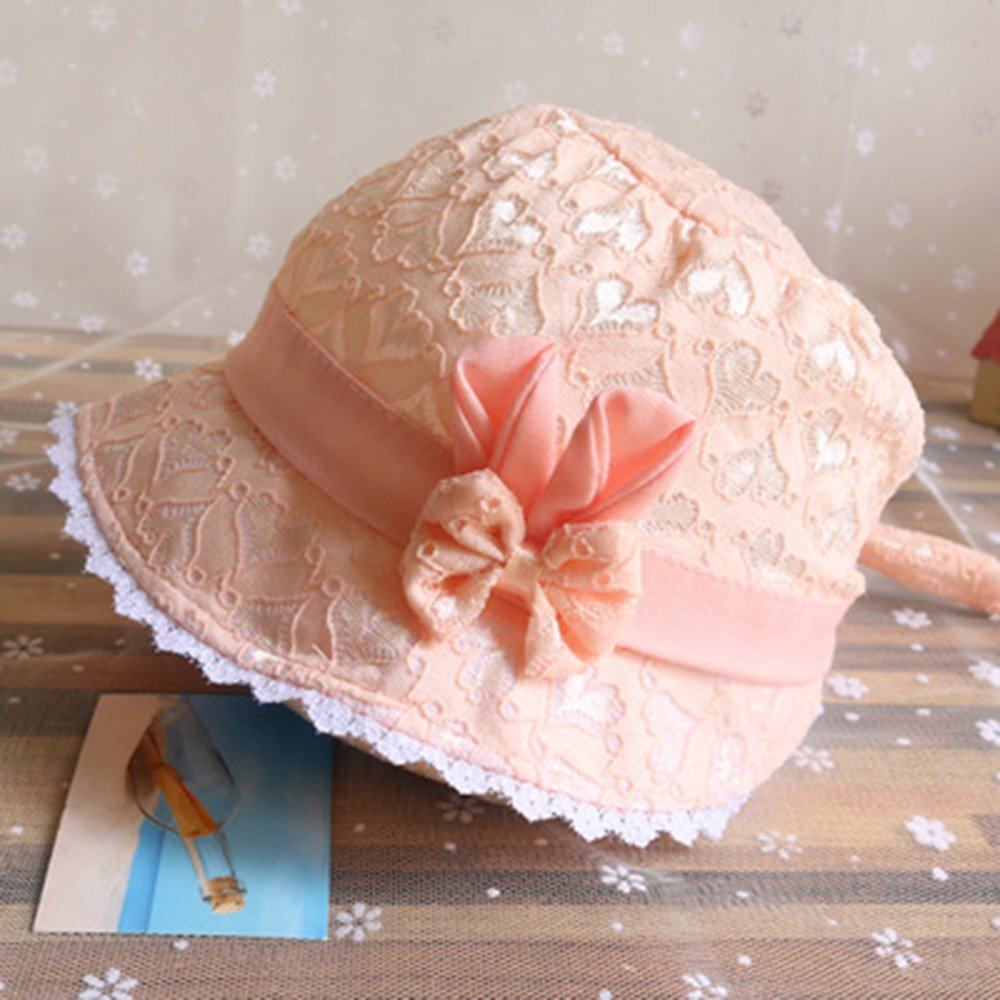 MEANIT Baby Summer Hat for Girls Infant Peach Heart Printing Cap Girl Sun Protection Sun Hat Baby Toddler Youth