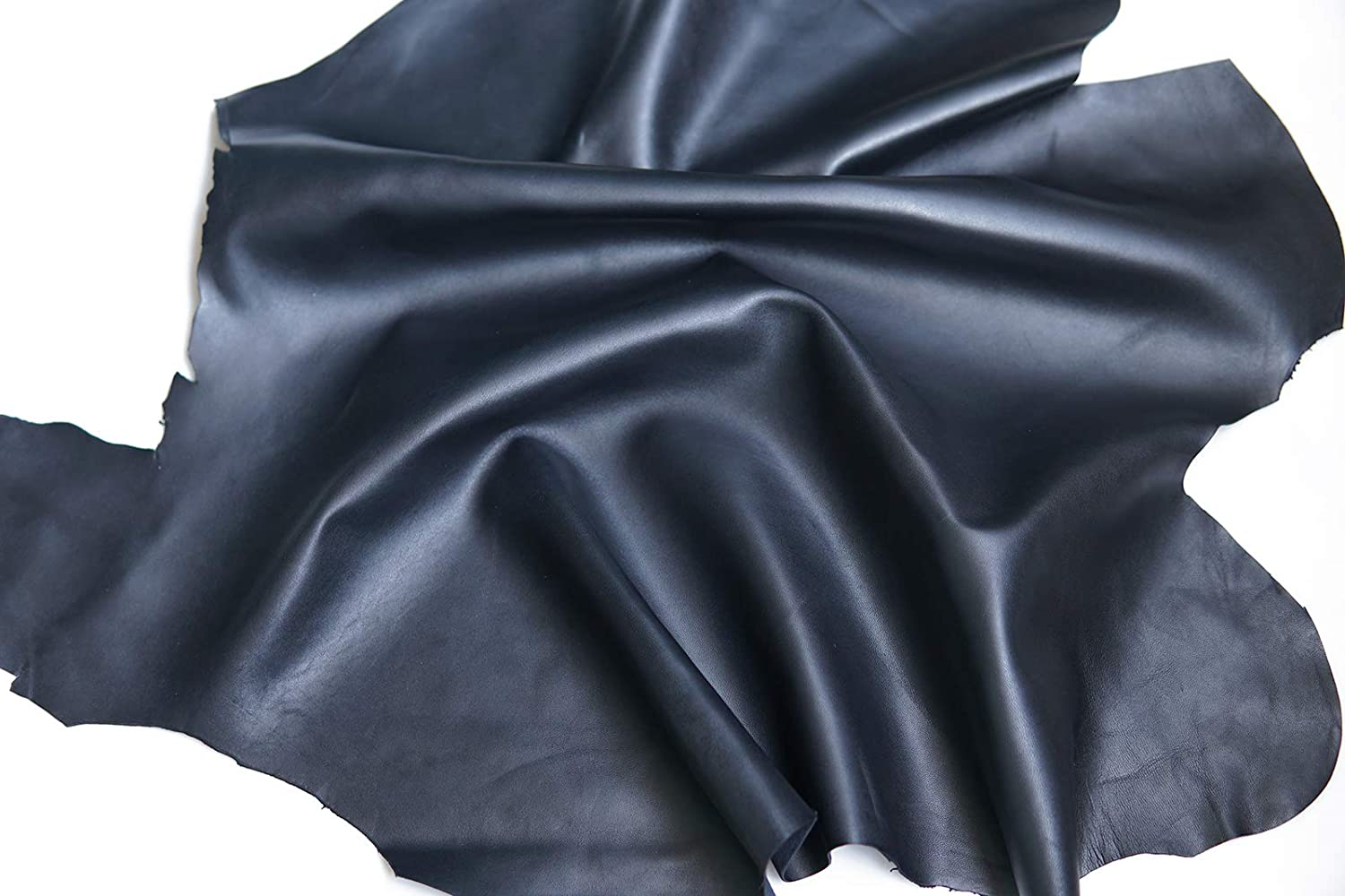 Black Full Grain Upholstery Genuine Leather Hides 1.0mm-1.2mm Leather Whole Lambskin Leather for Crafts//Sewing//Hobby Workshop//Home Decor Crafting Leather Supplies 5~7feet Square