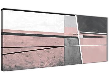 Wallfillers Blush Pink Grau Malerei Wohnzimmer Leinwand Bilder Zubehör U2013  Abstrakt 1393u2013120 Cm Print